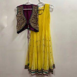 Sleeveless Anarkali Suit